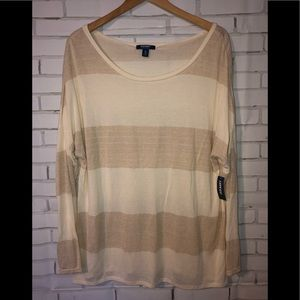 Gold sweater - sz XXL - new with tags
